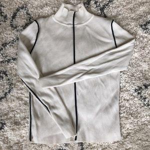 Zara white turtleneck with black details size M